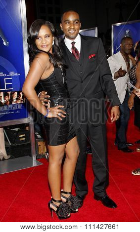 August 16, 2012. Nick Gordon and Bobbi Kristina Brown at the Los Angeles premiere of 'Sparkle' held at the Grauman's Chinese Theatre, Los Angeles.