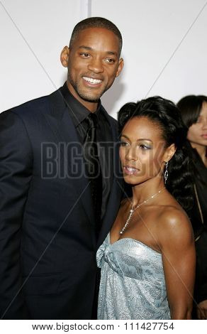 December 7, 2006. Will Smith and Jada Pinkett Smith attend the Los Angeles Premiere of