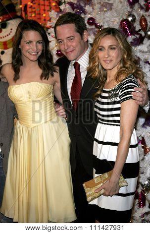 November 12, 2006. Kristin Davis, Matthew Broderick and Sarah Jessica Parker attend the World Premiere of
