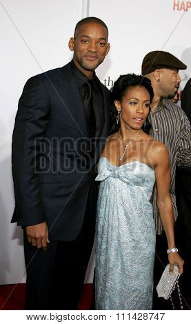 December 7, 2006. Will Smith and Jada Pinkett-Smith attends the Los Angeles Premiere of