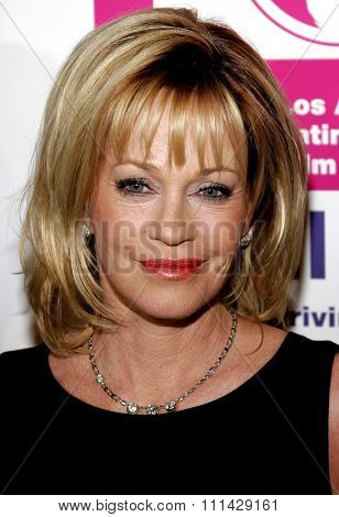 October 14, 2006. Melanie Griffith attends the LALIFF Gabi Award Gala Honoring Antonio Banderas held at the Egyptian Theatre in Hollywood, California United States.
