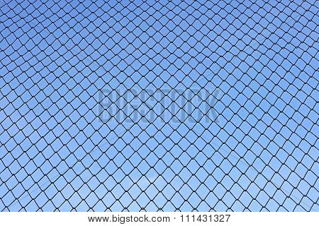 Chainlink With Beautiful Sky Background