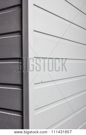 The Angle Of The Wall Decorated With Wooden A Siding