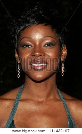 December 1, 2005. Caroline Chikezie attends the Wolrd Premiere of Aeon Flux at the Cinerama Dome in Hollywood, California United States.