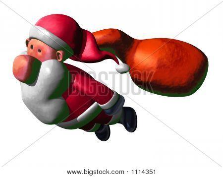 Santa Claus Flying