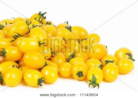 Yellow Tomatoes on white background