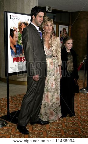 WESTWOOD. CALIFORNIA. April 29, 2005. Jane Fonda and son Troy Garity attend at the Los Angeles Premiere of