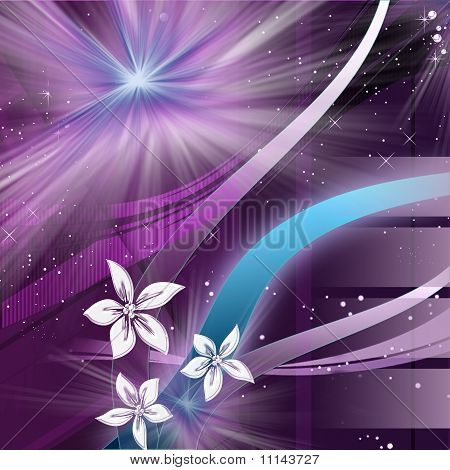 purple decorative composition