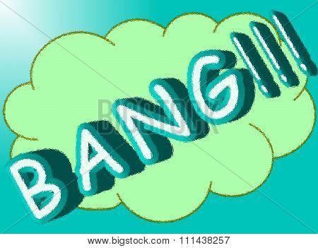 Bang retro cartoon explosion