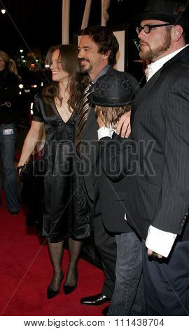 October 18, 2005. Robert Downey Jr. and wife Susan Levin at the Warner Bros.