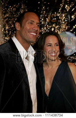 October 17, 2005. Dwayne Johnson and wife Dana at the Los Angeles Premiere of