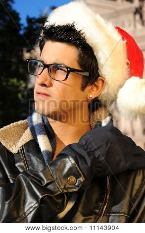 Santa Hunk who is Studious