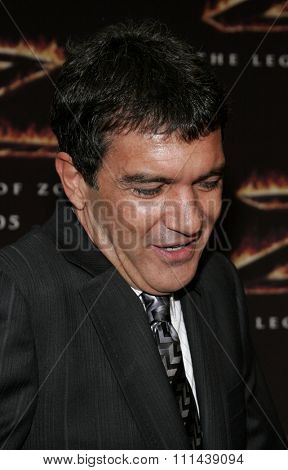 October 16, 2005. Antonio Banderas at the Columbia Pictures'