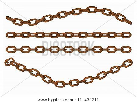Metal chain part on white background