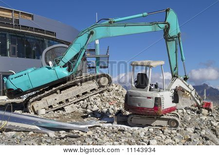 Big And Small Excavator