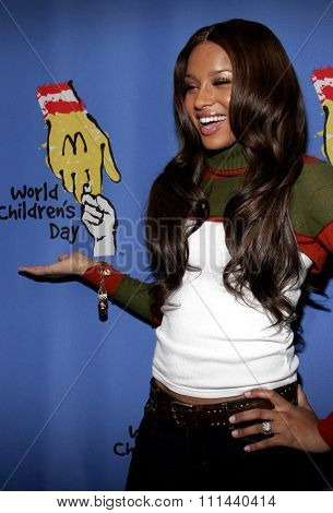 November 15, 2005 - Hollywood - Ciara at the 2005 World Children's Day at The Los Angeles Ronald McDonald House Ronald McDonald House in Hollywood, United States.