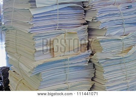Heap Of Old Paper Document