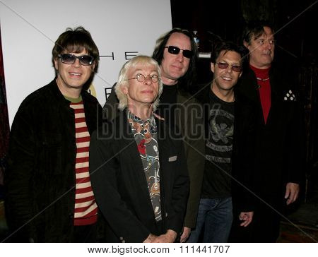 March 14, 2006. Elliot Easton, Greg Hawkes, Todd Rundgren, Kasim Sulton and Prairie Prince at The New Cars Press Conference held at the House of Blues Sunset Strip in West Hollywood, United States.