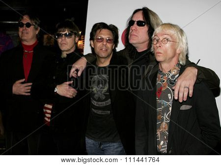 March 14, 2006. Prairie Prince, Elliot Easton, Kasim Sulton, Todd Rundgren and Greg Hawkes at The New Cars Press Conference held at the House of Blues Sunset Strip in West Hollywood, United States.