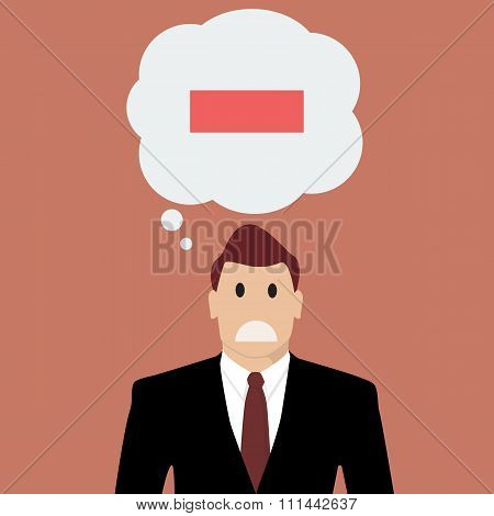 Businessman With Negative Thinking
