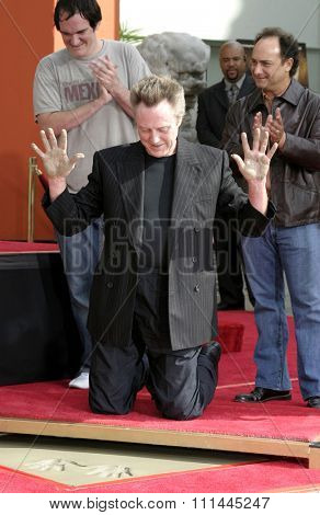 Quentin Tarantino and Kevin Pollak at the Christopher Walken Honored With A Hand & Footprints Ceremony held a the Grauman's Chinese Theatre in Hollywood, California United States on October 08 2004.