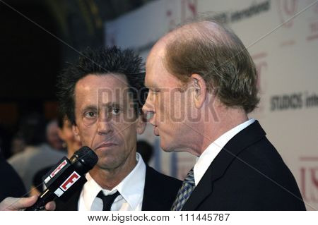 Brian Grazer and Ron Howard at the 75th Diamond Jubilee Celebration for the USC School of Cinema-Television held at the USC's Bovard Auditorium in Los Angeles, United States on September 26 2004.