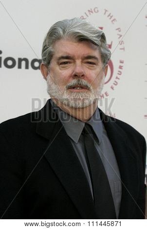 George Lucas at the 75th Diamond Jubilee Celebration for the USC School of Cinema-Television held at the USC's Bovard Auditorium in Los Angeles, United States on September 26 2004.