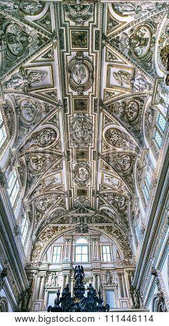 Cathedral Ceiiing Altar Mezquita Cordoba Spain