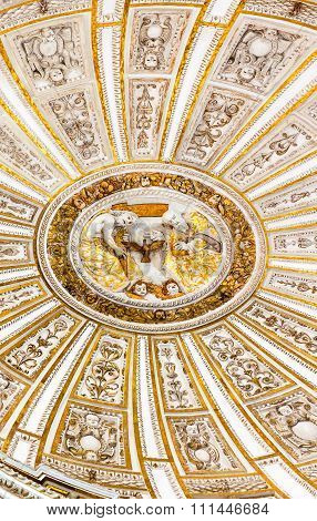 Ceiiing Dome Father Son Holy Spirit Cathedral  Mezquita Cordoba Spain