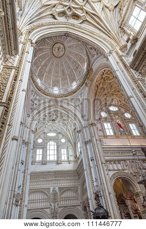 Cathedral Ceiiing Dome Mezquita Cordoba Spain