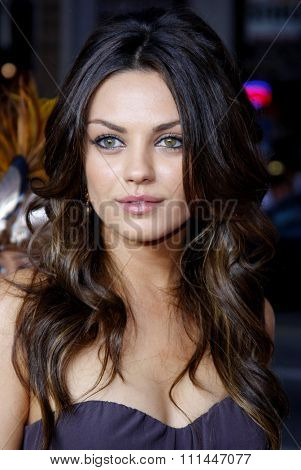 HOLLYWOOD, CALIFORNIA. Thursday April 10, 2008. Mila Kunis attends the World Premiere of