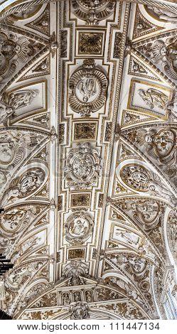 Cathedral White Ceiiing Altar Mezquita Cordoba Spain