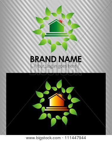 home real estate logo,global nature house