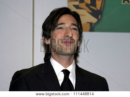 25 January 2005 - Beverly Hills, California - Adrien Brody. 77th Annual Acedemy Awards Nominations Announcement at Samuel Goldwyn Theater Academy of Motion Picture Arts and Sciences in Beverly Hills