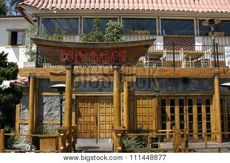 8 September 2004. Miyagi's. LA Hotspots: Miyagi's. Three floors, seven sushi bars and five liquor bars make this a must-stop on the Sunset Strip. 8225 Sunset Boulevard West Hollywood.