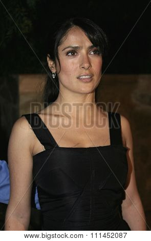 02/24/2005 - Hollywood - Salma Hayek at Hollywood Stars Join Global Green For Clean Energy Solutions, Music At