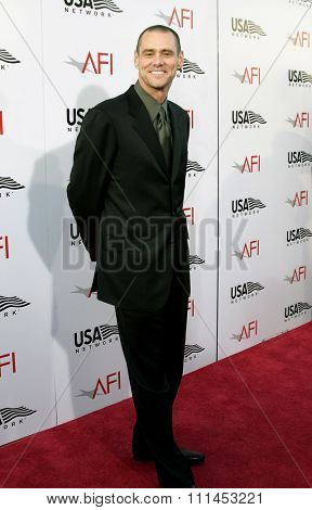 10 June 2004 - Hollywood, USA - Jim Carrey. 32nd AFI Life Achievement Award: A Tribute to Meryl Streep at the Kodak Theatre, Hollywood & Highland.