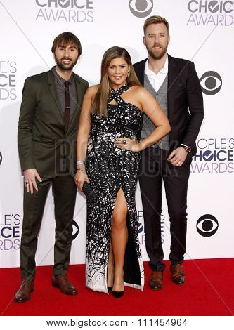 Lady Antebellum at the 41st Annual People's Choice Awards held at the Nokia L.A. Live Theatre in Los Angeles on Tuesday January 7, 2015.