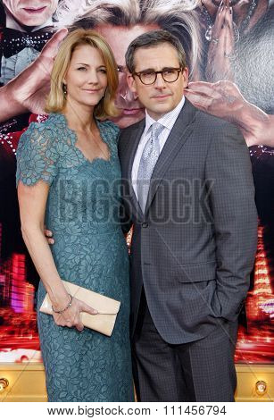 Nancy Carell and Steve Carell at the Los Angeles premiere of 'The Incredible Burt Wonderstone' held at the TCL Chinese Theater in Los Angeles, United States, 11/03/2013.