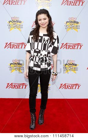 Miranda Cosgrove at the Variety's 3rd Annual Power Of Youth held at the Paramount Studios Lot in Hollywood on December 5, 2009.