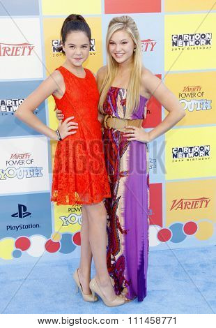 Olivia Holt and Bailee Madison at the Variety's 6th Annual Power Of Youth held at the Paramount Studios in Hollywood on September 15, 2012.