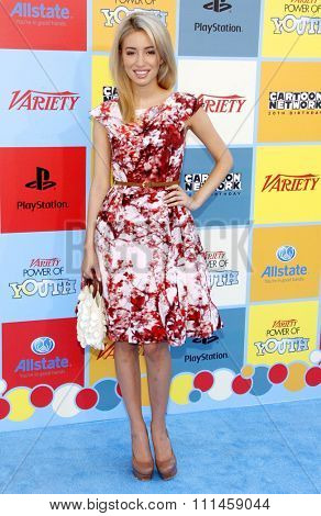 Christian Serratos at the Variety's 6th Annual Power Of Youth held at the Paramount Studios in Hollywood on September 15, 2012.