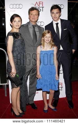 November 5, 2009. Ginnifer Goodwin, Colin Firth, and Nicholas Hoult at the AFI FEST 2009 Screening of