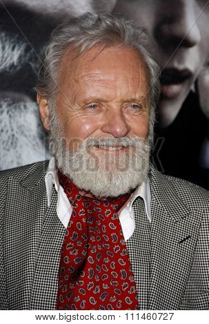 February 9, 2010. Anthony Hopkins at the Los Angeles premiere of