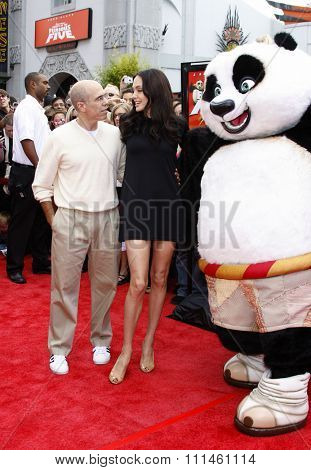 Jeffrey Katzenberg and Angelina Jolie at the Los Angeles Premiere of
