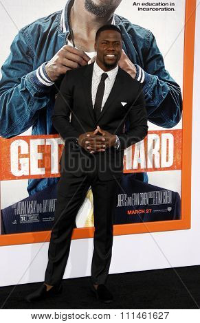 Kevin Hart at the Los Angeles premiere of 'Get Hard' held at the TCL Chinese Theater IMAX in Hollywood, USA on March 25, 2015.