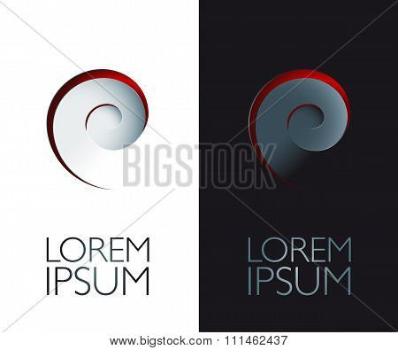 Realistic Spiral Design Element With 3D Effect