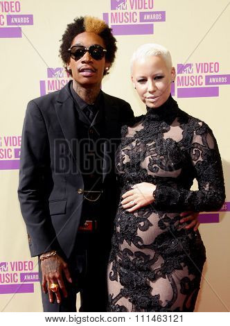 Wiz Khalifa and Amber Rose at the 2012 MTV Video Music Awards held at the Staples Center in Los Angeles, United States on September 6, 2012.