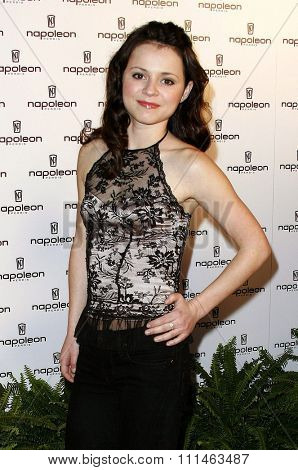 Sasha Cohen attends the Napoleon Perdis Hollywood Store Unveiling held at the Napoleon Perdis in Hollywood, California on May 1, 2007.