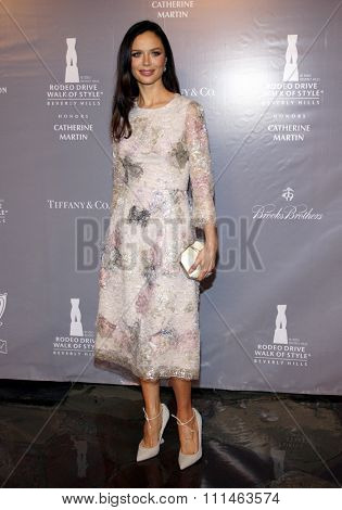 Georgina Chapman at the Rodeo Drive Walk Of Style honors Catherine Martin held at the Greystone Mansion in Los Angeles, United States, 02/28/2014.